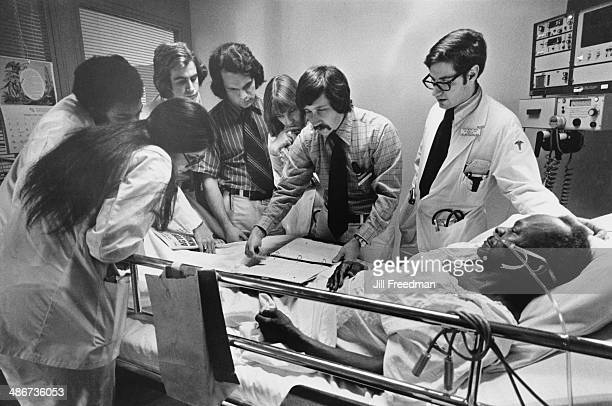 Medical students and residents at the Bellevue Hospital in Manhattan New York City 1976