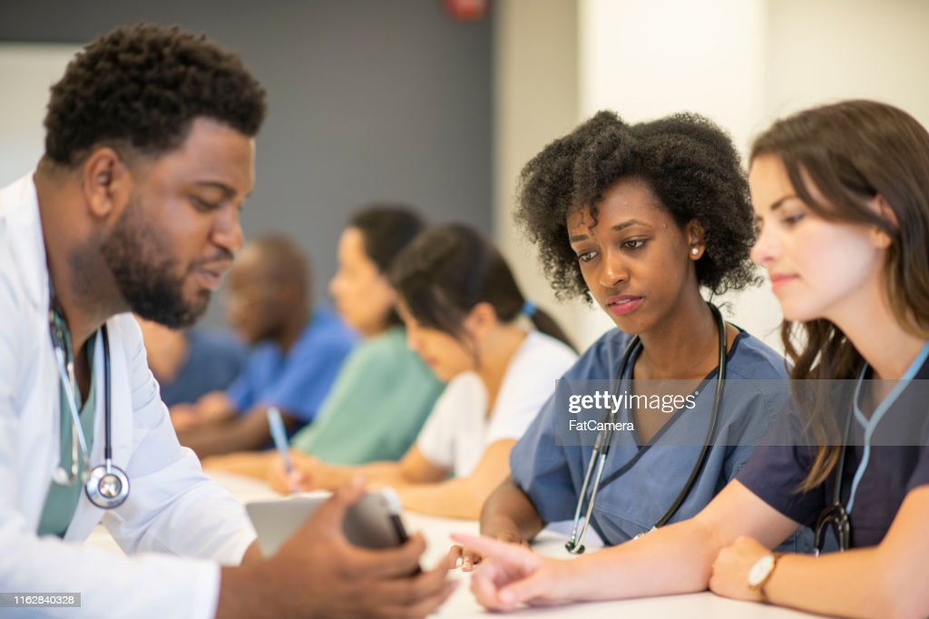 Medical students in class : Stock Photo