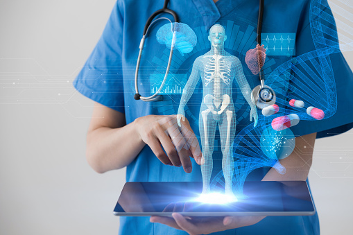 Medical technology concept. Electronic medical record. 872676342