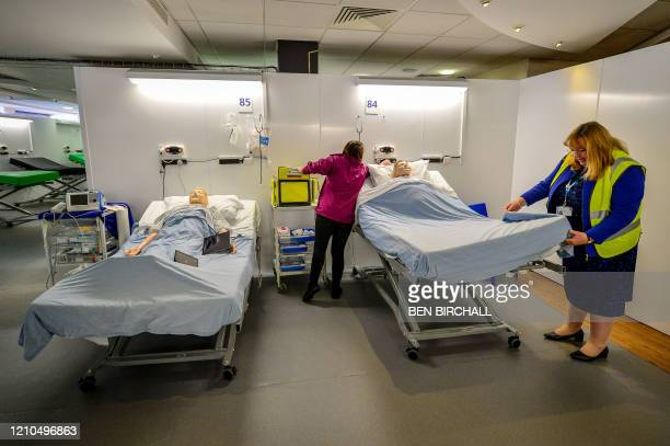 Medical training takes place inside a ward during the official opening of the new Dragon's Heart Hospital, built at the Principality Stadium,...