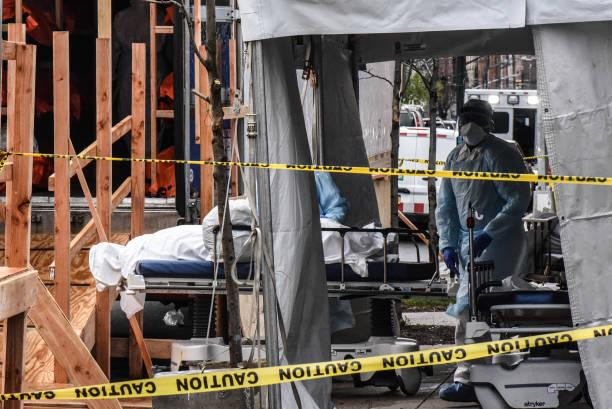 NY: Mobile Morgues Set Up Outside Brooklyn Hospital As Coronavirus Outbreak Hits New York