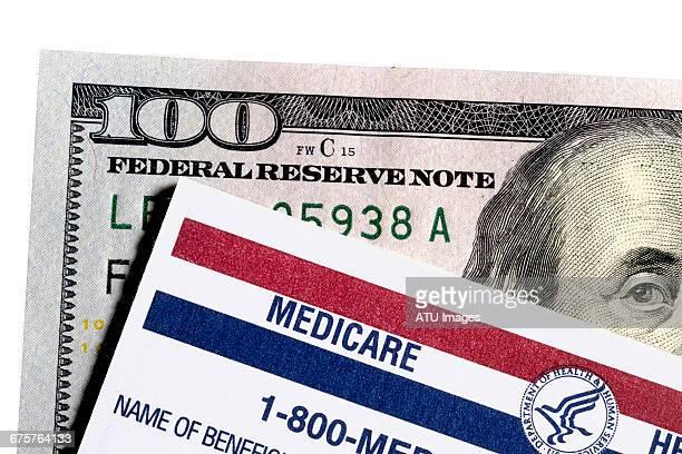 medicare card monet - medicare stockfoto's en -beelden