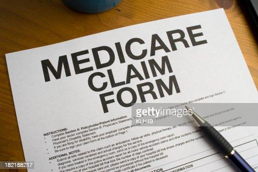 Medicare Claim Form   Medicare Claim Form Stock Photo Getty Images