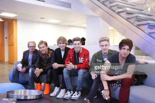 Medicated Pete from the Howard Stern Show poses with members of the LA based boy band After Romeo Drew Ryan Scott Christopher Blake English Devin...