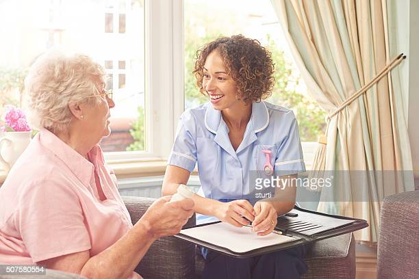 medication advice home care nurse