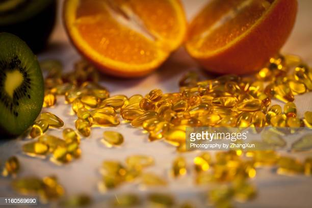 medication still life. - vitamin c stock pictures, royalty-free photos & images
