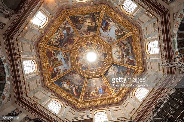 medici chapels in florence, italy. - chapel stock pictures, royalty-free photos & images
