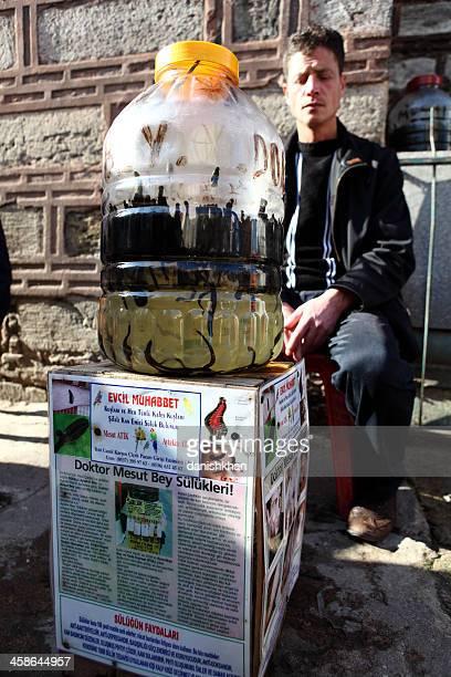 Medicinal Leeches Sellers Spice Bazaar, Istanbul