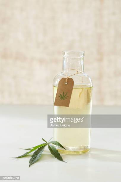 medicinal oil made from cannabis - cannabis oil stock photos and pictures