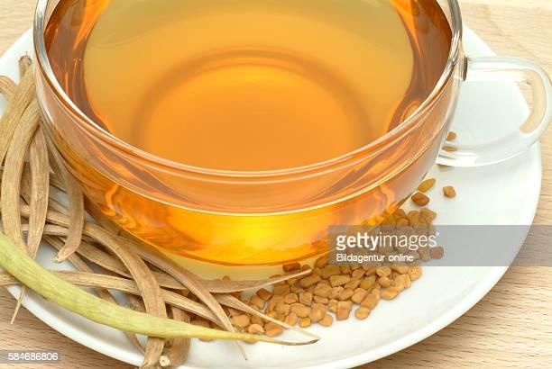 Medicinal tea made of fenugreek fenugreektea trigonella foenumgraecum