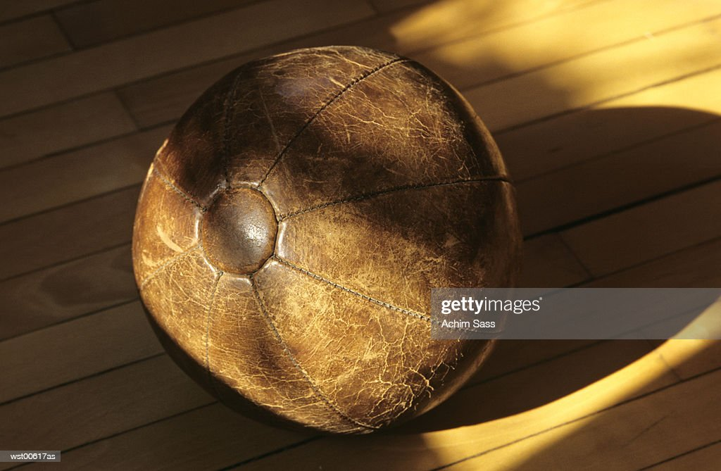 medicine ball, close up : Foto de stock