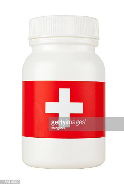 medicine bottle - lid stock photos and pictures