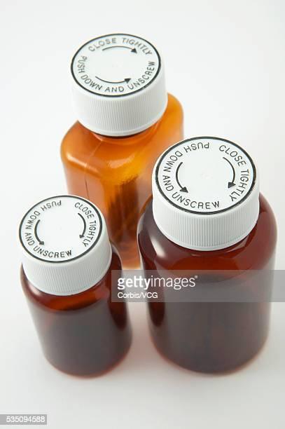 Medicine Bottles with Child-Proof Lids