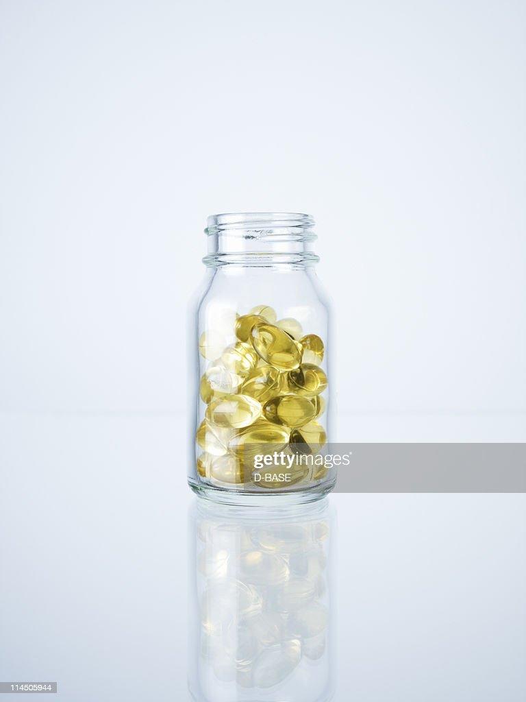 medicine in the bottle : Stock Photo