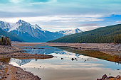 medicine lake drainage near jasper alberta