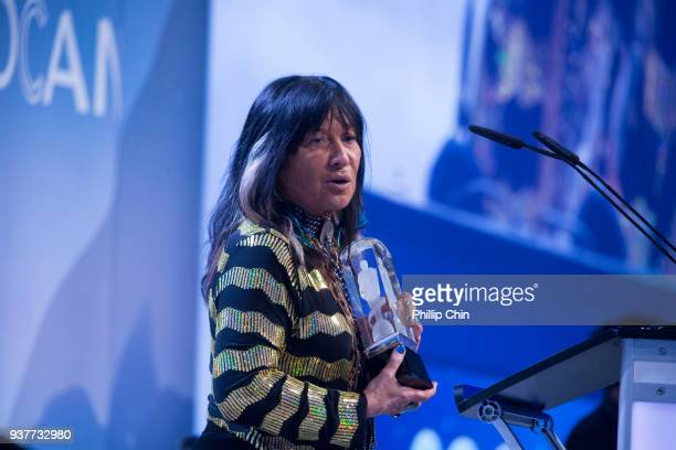 Medicine Songs Buffy SainteMarie wins the Indigenous Music Album of the year award at the Juno Gala Dinner and Awards at the Vancouver Convention...