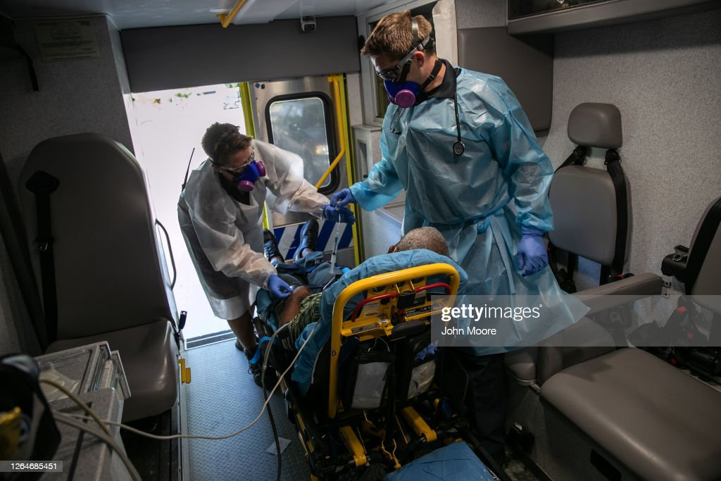 Texas EMS First Responders Face Higher Caseload Amid COVID-19 Pandemic : News Photo