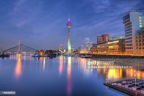 medienhafen - düsseldorf stock pictures, royalty-free photos & images