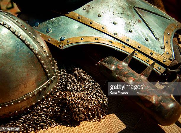 Medieval armor, close-up view in Trentino Alto Adige, Italy.