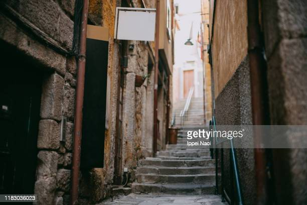 medieval backstreet alley, porto, portugal - old town stock pictures, royalty-free photos & images