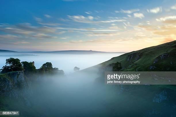 Medieval castle dawn