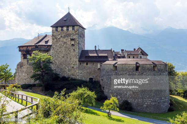 medieval castle in vaduz, liechtenstein - vaduz castle stock photos and pictures