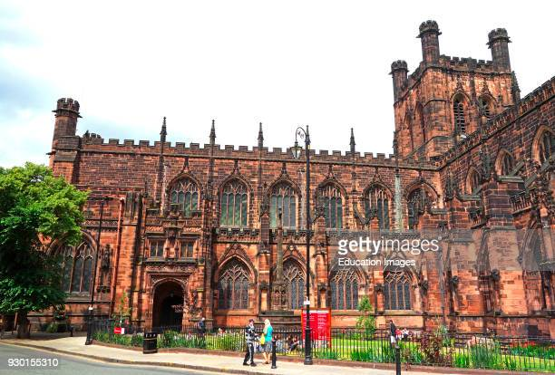 Medieval Cathedral Construction Began In 1092 Chester Cheshire England Britain UK