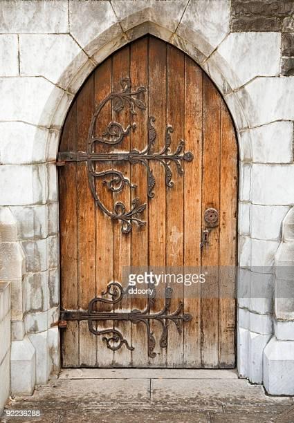 Mittelalterliche Kirche Tür