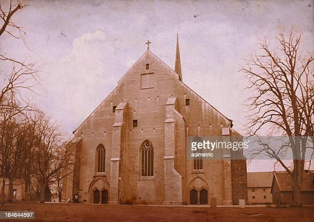 Mittelalterliche Kirche vintage Foto