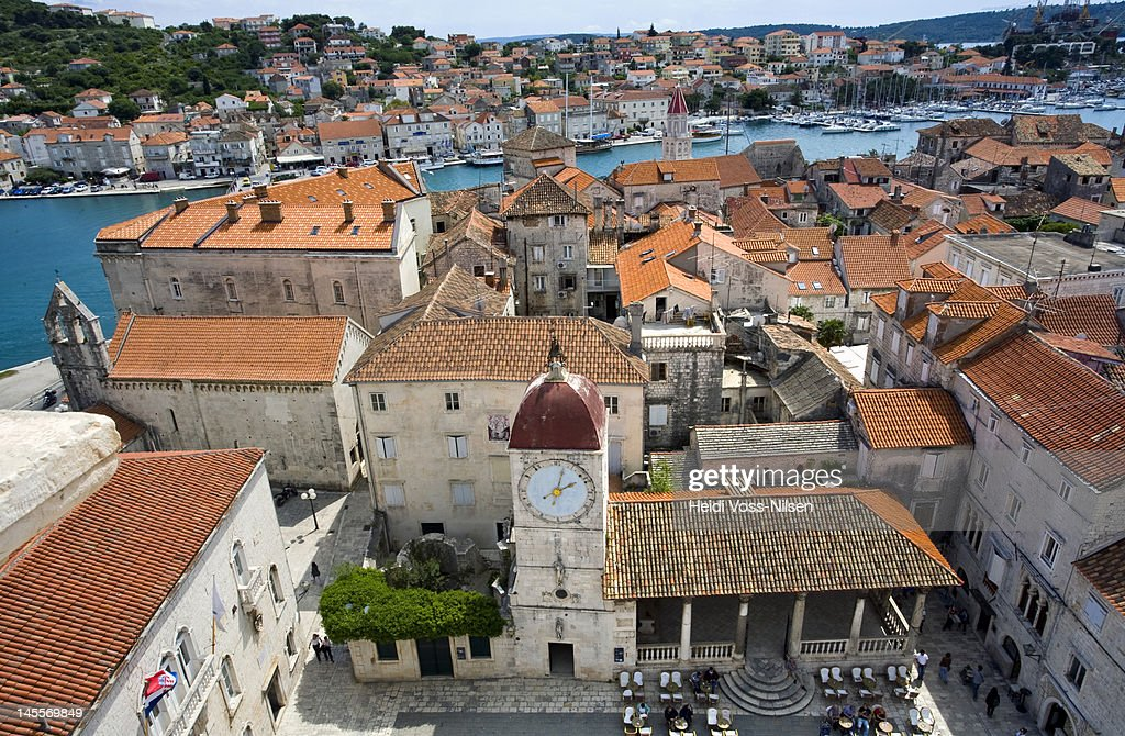 Medieval city of Trogir in Dalmatia : Stock Photo