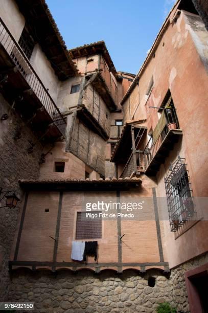 medieval corner in albarracín - teruel province - aragón - spain. - nook architecture stock pictures, royalty-free photos & images