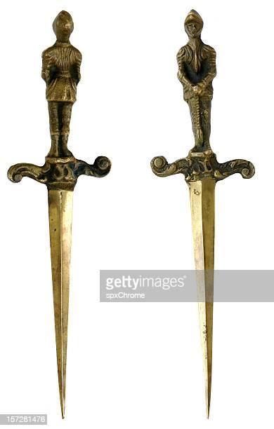 medieval daggers - dagger stock pictures, royalty-free photos & images