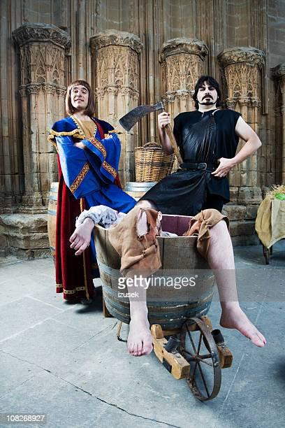 Époque médiévale au château de caractères