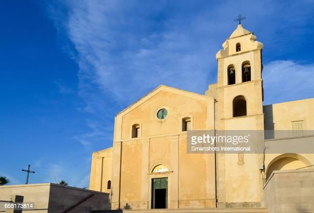 Medieval facade of St. Francis church in Vieste, Gargano peninsula, Apulia, Italy