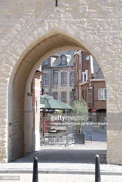 medieval gate - antwerp city belgium stock pictures, royalty-free photos & images