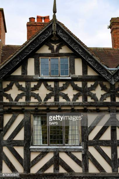 medieval half-timbered architecture at Ludlow