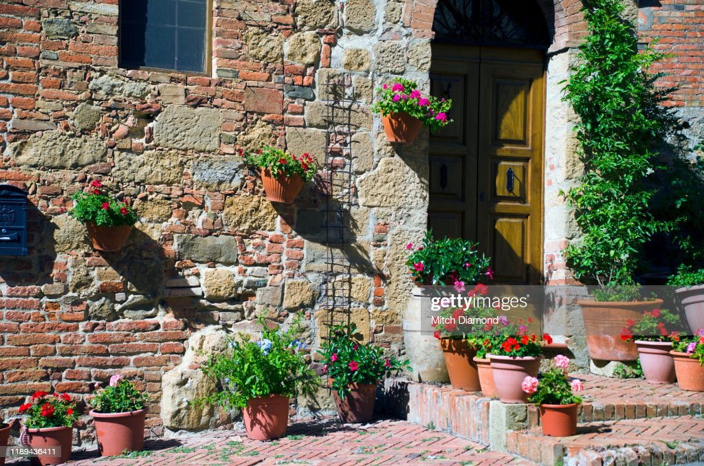 Medieval Home Decor In Monticchiello High Res Stock Photo Getty Images