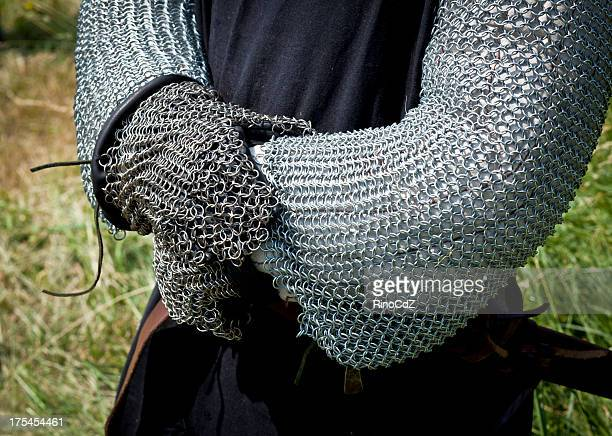 Medieval Knight Costume, Detail Of The Arms