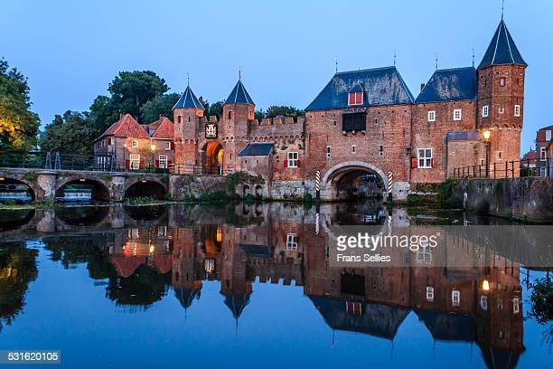 medieval koppelpoort gate in amersfoort - amersfoort netherlands stock photos and pictures