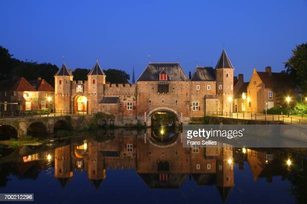medieval koppelpoort gate in amersfoort, the netherlands - amersfoort netherlands stock photos and pictures