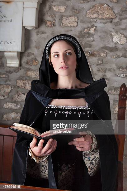 Medieval Lady In Church