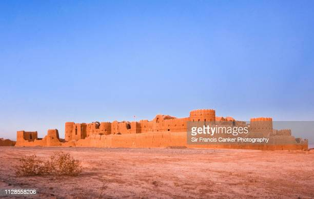 "Medieval, majestic Saryazd fortress built in the 7th century AD in ""Dasht-e Kavir"" desert near Yazd, Iran"