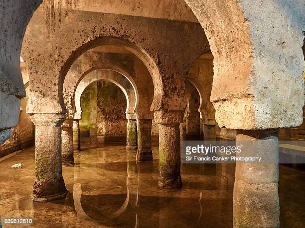 Medieval Moorish water cistern in Caceres, Spain, a UNESCO Heritage site