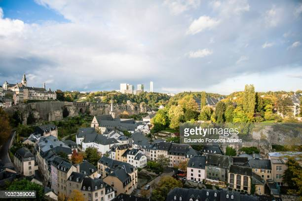 medieval neighborhood - luxembourg city luxembourg stock pictures, royalty-free photos & images