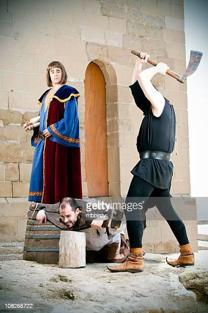 medieval public beheading - female execution photos stock pictures, royalty-free photos & images