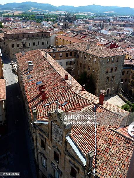 medieval quarter of vitoria-gasteiz - vitoria spain stock pictures, royalty-free photos & images