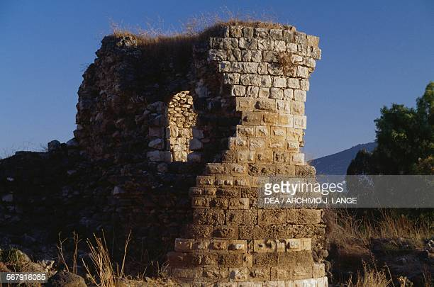 Medieval ruins on Mount Tabor Israel