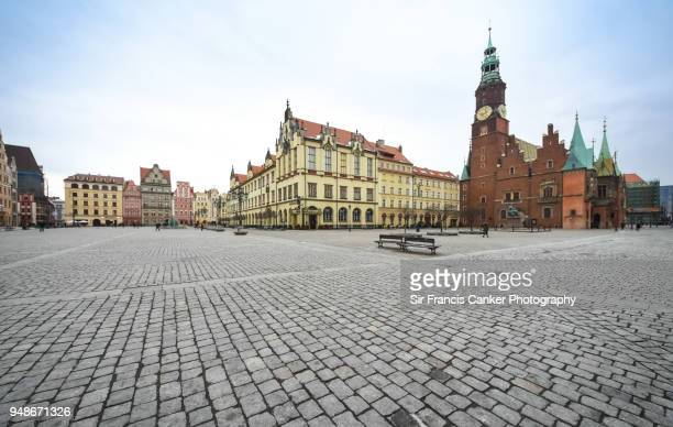 Medieval Rynek square (Market square) in Wroclaw, Silesia, Poland
