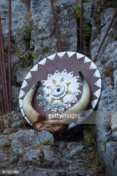 medieval shield - traditional clothing stock photos and pictures