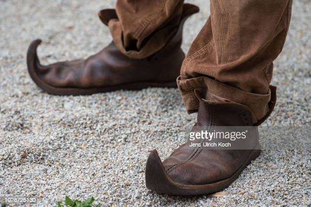 Medieval shoes at the 2018 Festival Mediaval on September 7, 2018 in Selb, Germany. The four-day long festival, which brings together people who...